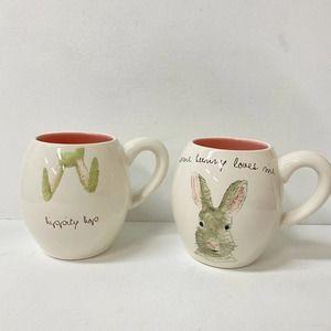 Rae Dunn Easter Mugs Bunny Loves You & Hippity Hop